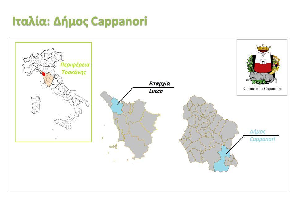 «Ινστιτούτο Περιβάλλοντος και Αειφόρου Ανάπτυξης» 20/02/2014, Λευκωσία, Κύπρος 34 Ιταλία: Δήμος Cappanori