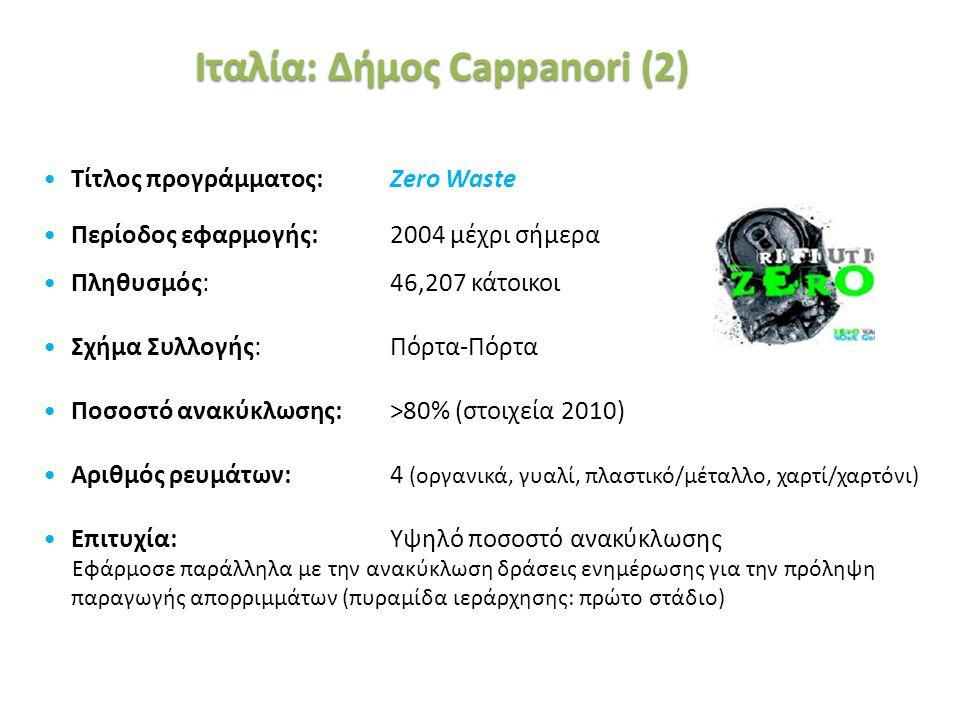 «Ινστιτούτο Περιβάλλοντος και Αειφόρου Ανάπτυξης» 20/02/2014, Λευκωσία, Κύπρος 35 Τίτλος προγράμματος: Zero Waste Περίοδος εφαρμογής: 2004 μέχρι σήμερ
