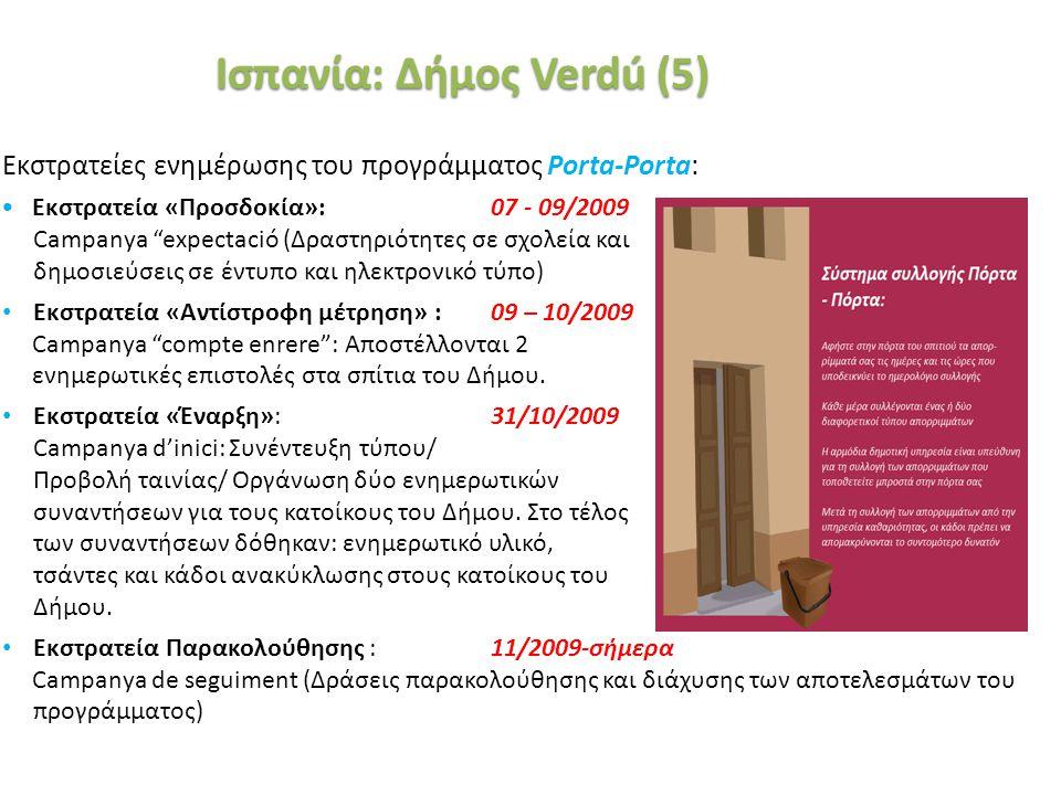«Ινστιτούτο Περιβάλλοντος και Αειφόρου Ανάπτυξης» 20/02/2014, Λευκωσία, Κύπρος 43 Εκστρατείες ενημέρωσης του προγράμματος Porta-Porta: Εκστρατεία «Προ