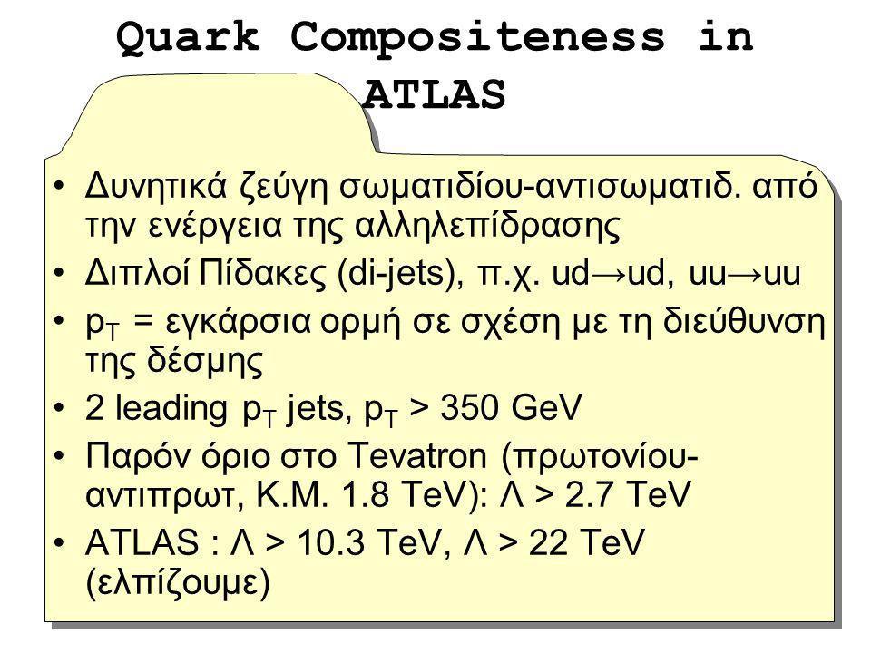 Δυνητικά ζεύγη σωματιδίου-αντισωματιδ. από την ενέργεια της αλληλεπίδρασης Διπλοί Πίδακες (di-jets), π.χ. ud→ud, uu→uu p T = εγκάρσια ορμή σε σχέση με