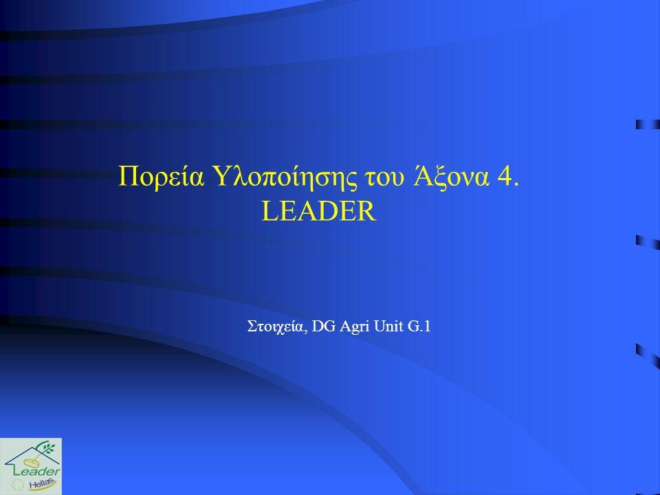 Στοιχεία, DG Agri Unit G.1 Πορεία Υλοποίησης του Άξονα 4. LEADER