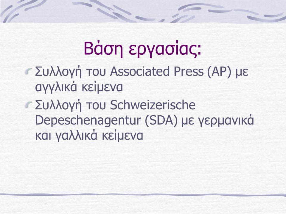 Corpus-based μέθοδος πολυγλωσσικής ανάκτησης πληροφοριών κατά την οποία ο χρήστης συνθέτει το querie σε μια προτιμώμενη γλώσσα και ανακτά τα σχετικά τεκμήρια ανεξάρτητα από τη γλώσσα στην οποία είναι γραμμένα αυτά.