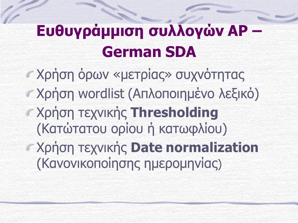Βασική σύλληψη της διαδικασίας ευθυγράμμισης Τα κείμενα της πρώτης συλλογής μετατρέπονται σε queries με την εξαγωγή όρων απ' αυτά Τα queries μεταφράζονται στη γλώσσα- στόχο και «τρέχουν» πάνω στη δεύτερη συλλογή