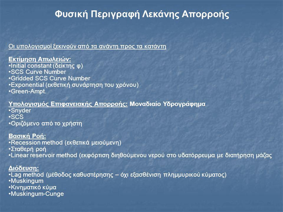 Στόχοι 1.Επιτυχής προσομοίωση επιλεγμένων πλημμυρογραφημάτων στη θέση Τσίμοβο 2.Αναγνώριση των καλύτερα προσαρμοζόμενων υδρολογικών μεθόδων για τα διάφορα μέρη της προσομοίωσης 3.Συμπεράσματα για το υδρολογικό καθεστώς στη λεκάνη (αρχικές απώλειες, επιφανειακή απορροή, βασική ροή κ.λ.π.) στην υγρή και ξηρή περίοδο 4.Σύγκριση Αδρομερούς και Ημικατανεμημένου Μοντέλου
