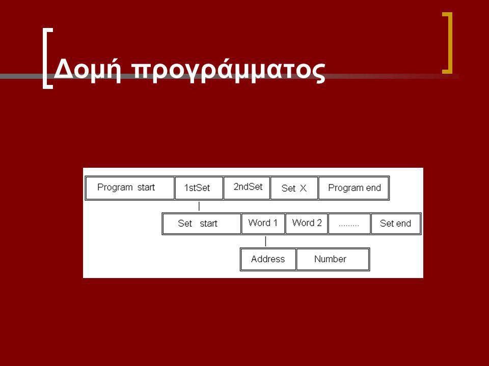 Επιλογή: Input / Editor (Δημιουργία επεξεργασία προγραμμάτων).