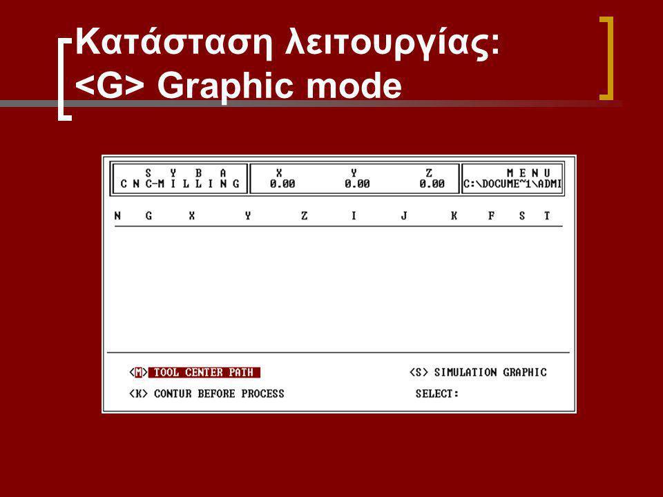 Κατάσταση λειτουργίας: Graphic mode