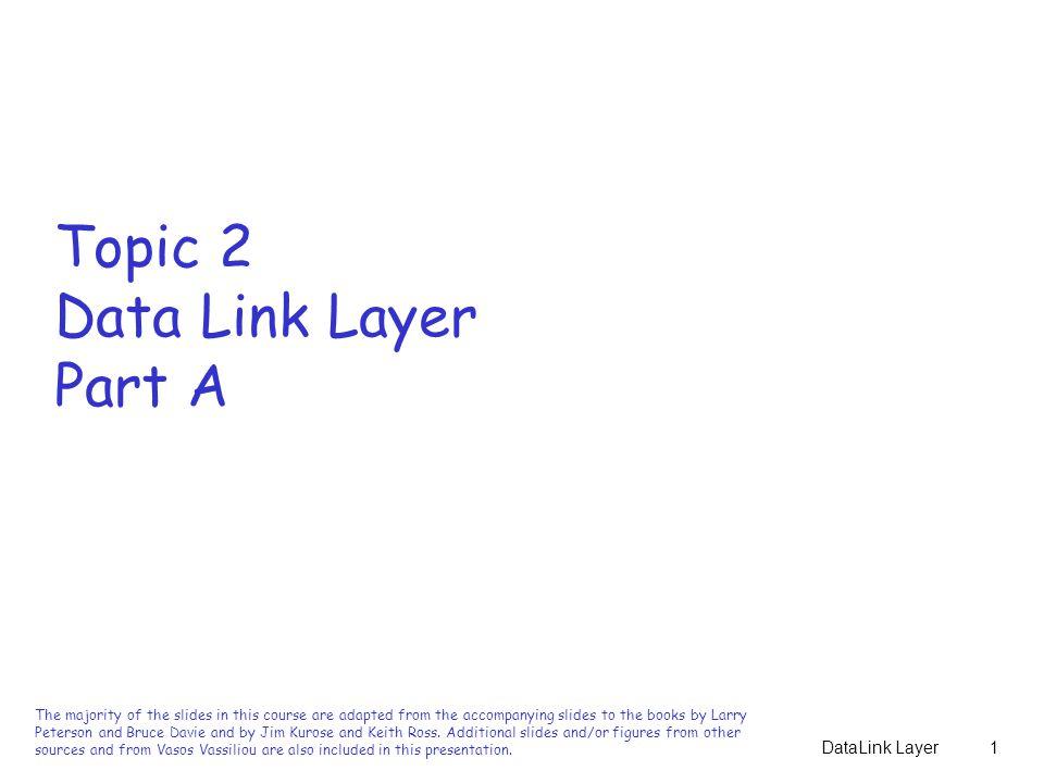 DataLink Layer32 Ιδιότητες Διαίρεσης Πολυωνύμων  Ένα πολυώνυμο Τ(x) διαιρείται από το C(x) εφόσον το Τ(x) είναι μεγαλύτερου βαθμού από το C(x).