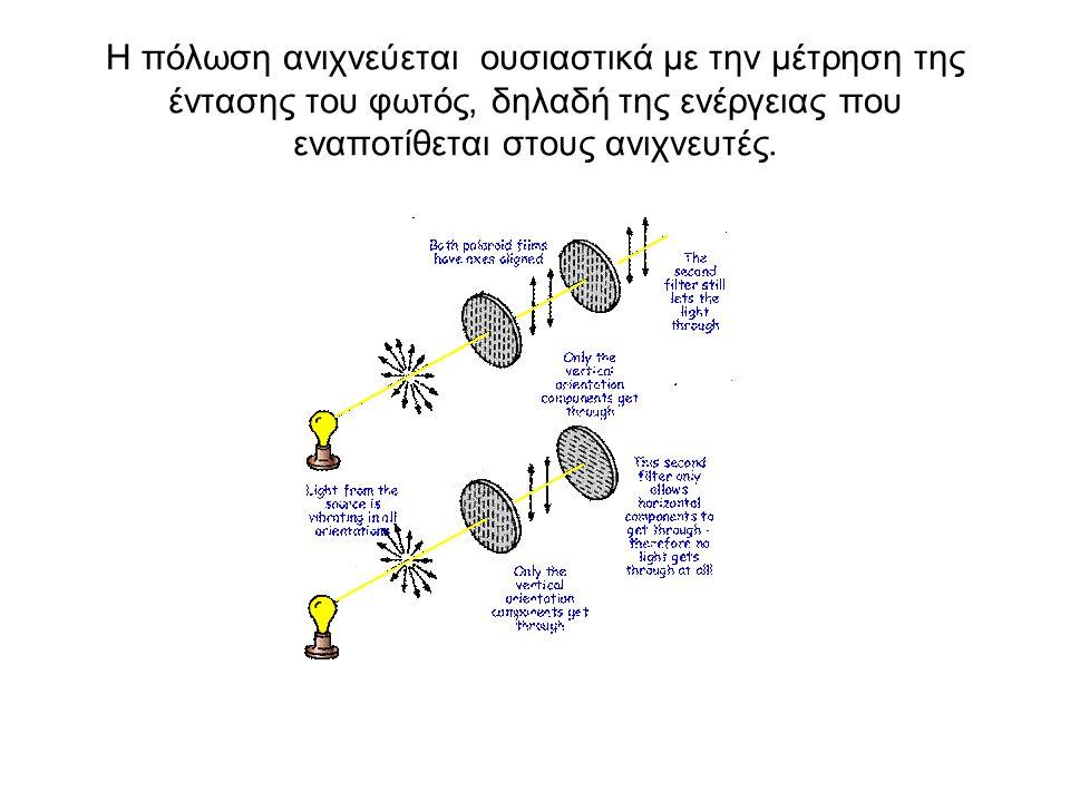 Η πόλωση ανιχνεύεται ουσιαστικά με την μέτρηση της έντασης του φωτός, δηλαδή της ενέργειας που εναποτίθεται στους ανιχνευτές.