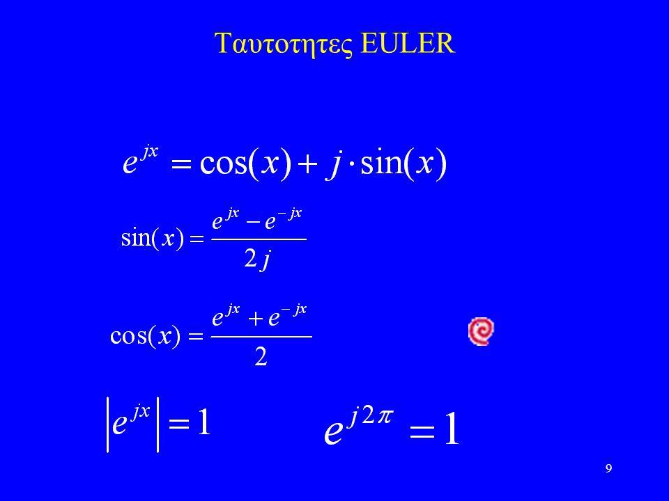 9 Ταυτοτητες EULER
