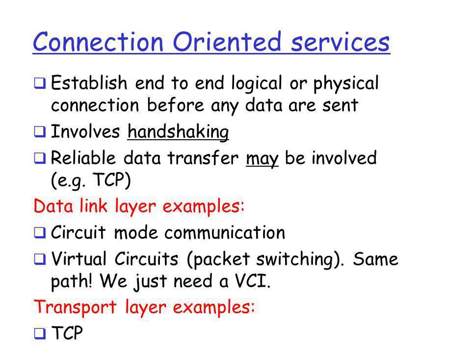 Transmission Control Protocol (TCP) (belongs to transport layer) A B X B B OK A OK Hi! Hello!