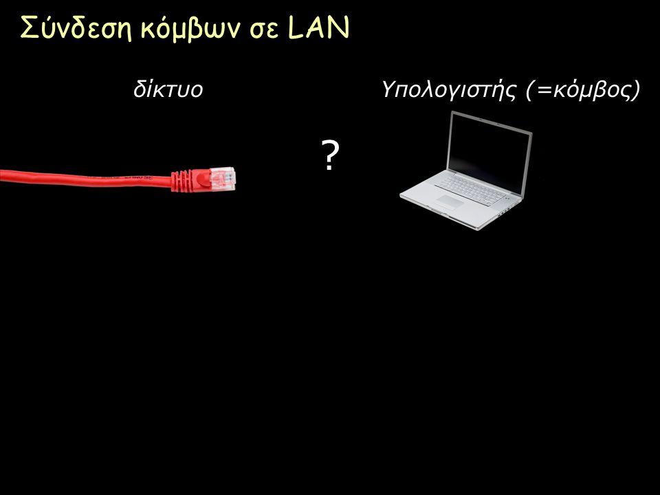 Page 20 Σύνδεση κόμβων σε LAN ? δίκτυοΥπολογιστής (=κόμβος)