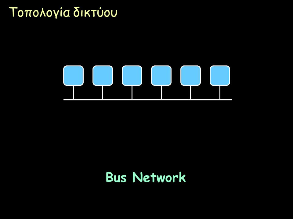 Page 24 Τοπολογία δικτύου Bus Network