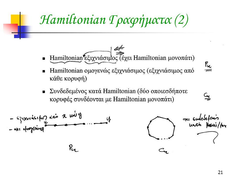 21 Hamiltonian Γραφήματα (2)