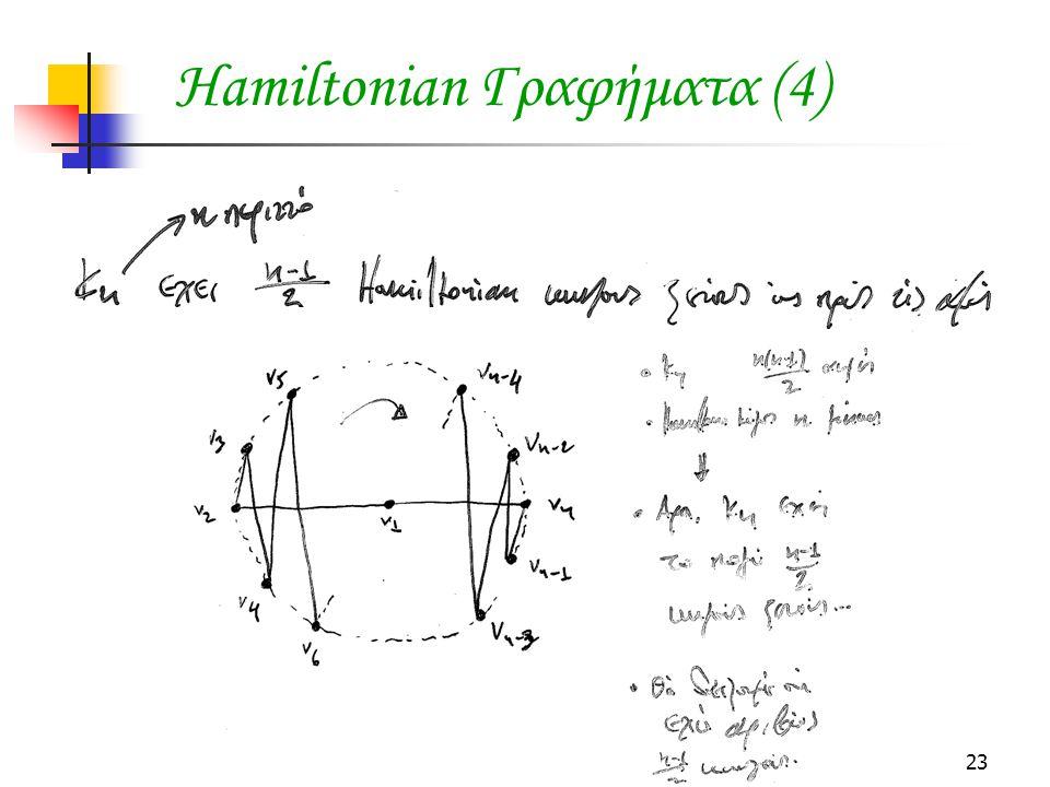23 Hamiltonian Γραφήματα (4)