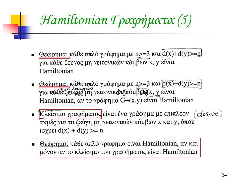 24 Hamiltonian Γραφήματα (5)