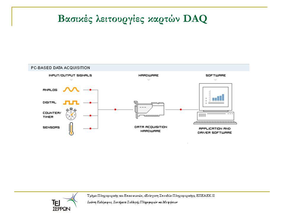 Παράδειγμα Κάρτα DAQ που τοποθετείται στον δίαυλο PCI.