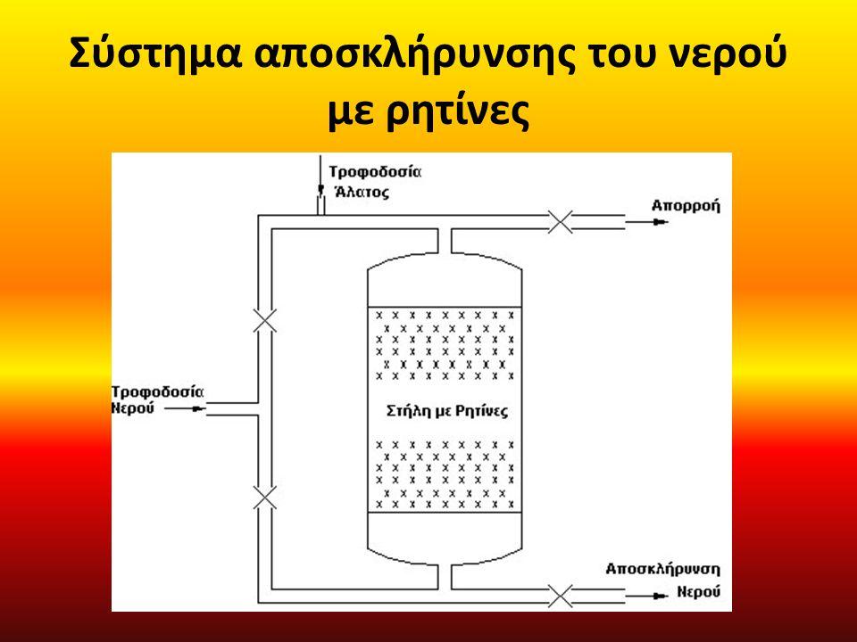 Σύστημα αποσκλήρυνσης του νερού με ρητίνες