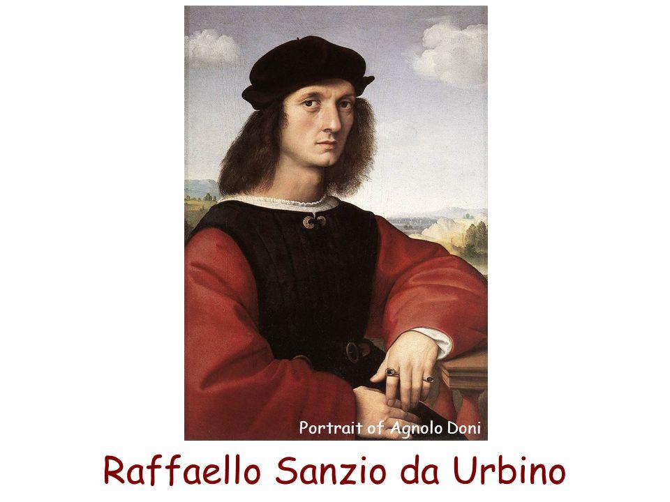 Raffaello Sanzio da Urbino Portrait of Agnolo Doni