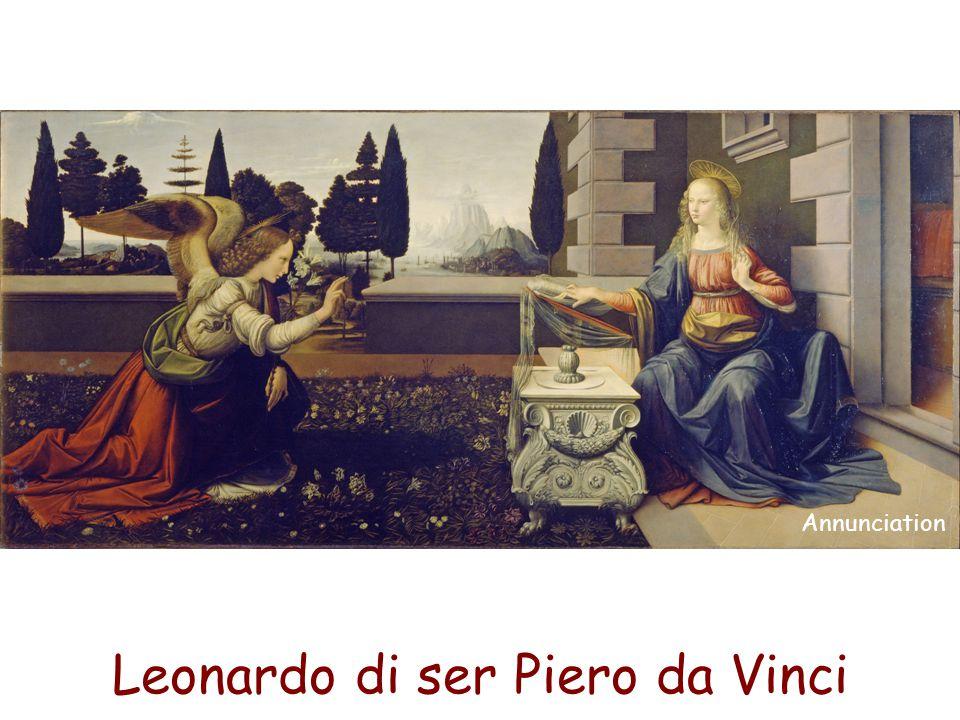Leonardo di ser Piero da Vinci Annunciation