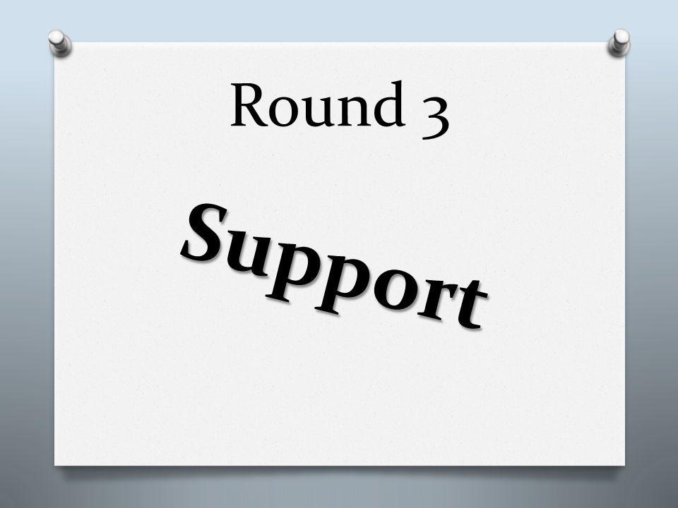 Round 3 Support