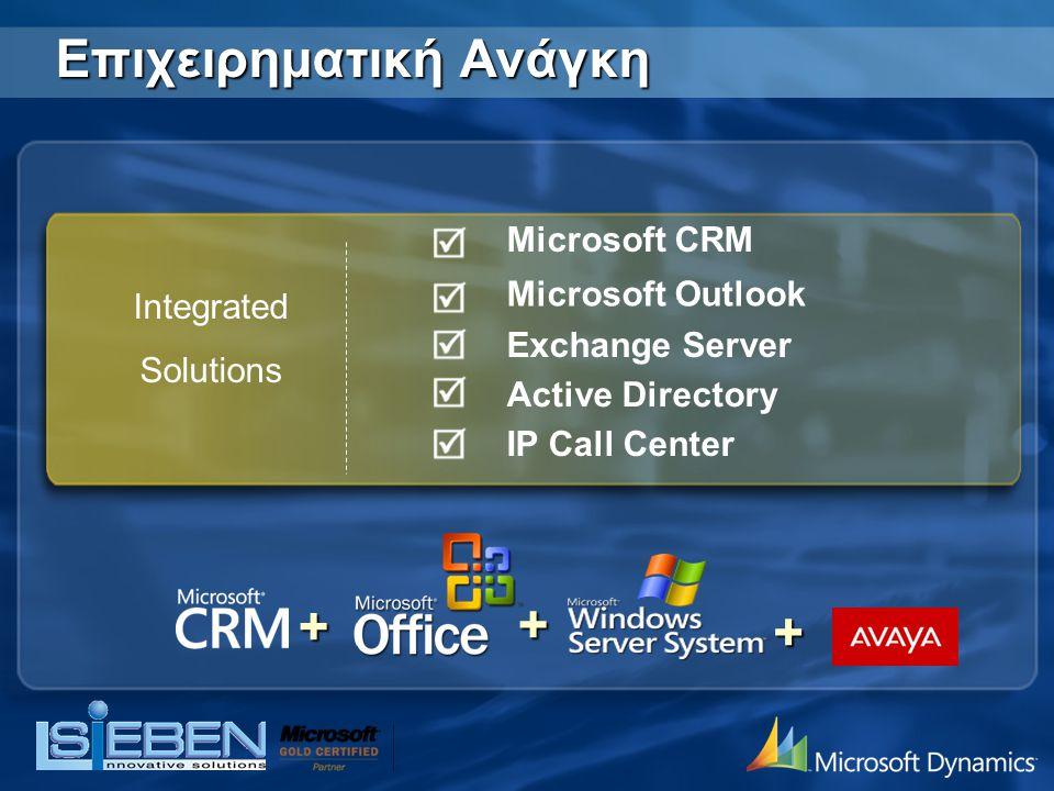 Microsoft CRM | Θέματα Παρουσίαση SiEBEN Innovative SolutionΠαρουσίαση SiEBEN Innovative Solution Παρουσίαση ECDLΠαρουσίαση ECDL Επιχειρηματική ΑνάγκηΕπιχειρηματική Ανάγκη Περιγραφή ΛύσηςΠεριγραφή Λύσης ΟφέληΟφέλη