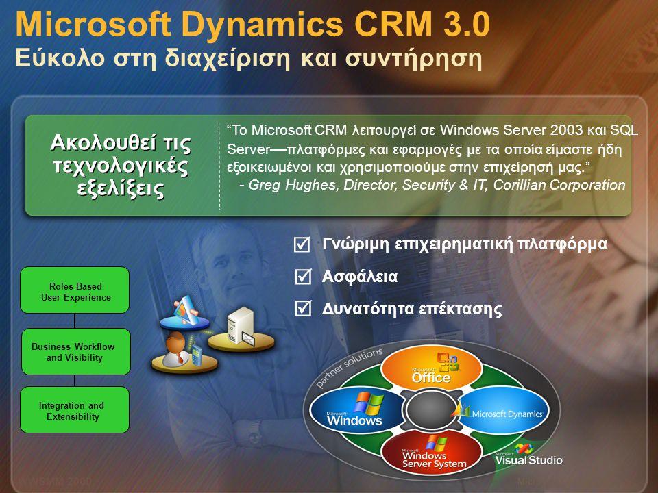 Microsoft Confidential 10 WWSMM 2000 Γνώριμη επιχειρηματική πλατφόρμα Ασφάλεια Δυνατότητα επέκτασης Microsoft Dynamics CRM 3.0 Εύκολο στη διαχείριση κ