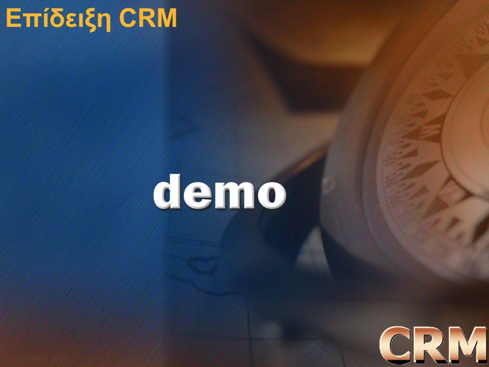 Microsoft Confidential 22 WWSMM 2000 Επίδειξη CRM