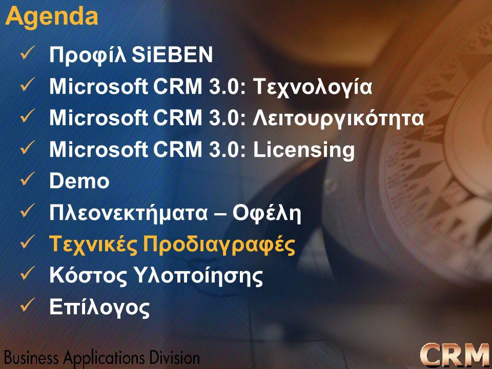 Microsoft Confidential 26 WWSMM 2000 Agenda Προφίλ SiEBEN Microsoft CRM 3.0: Τεχνολογία Microsoft CRM 3.0: Λειτουργικότητα Microsoft CRM 3.0: Licensin