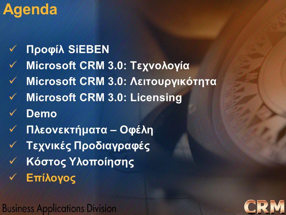 Microsoft Confidential 35 WWSMM 2000 Agenda Προφίλ SiEBEN Microsoft CRM 3.0: Τεχνολογία Microsoft CRM 3.0: Λειτουργικότητα Microsoft CRM 3.0: Licensin