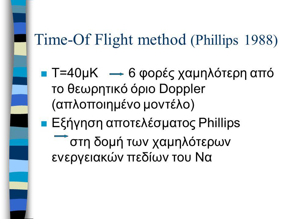 n Τ=40μΚ6 φορές χαμηλότερη από το θεωρητικό όριο Doppler (απλοποιημένο μοντέλο) n Εξήγηση αποτελέσματος Phillips στη δομή των χαμηλότερων ενεργειακών