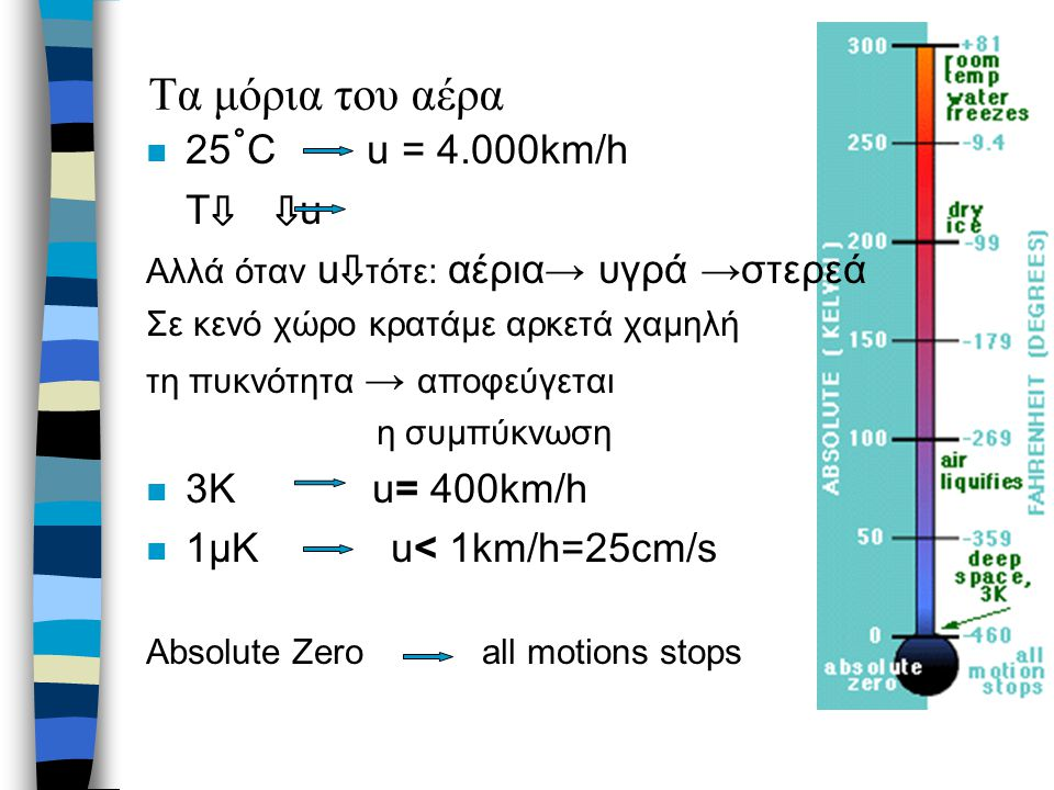 Sisyphus Cooling (Cohen-Tannoudji) Άτομα κινούνται σε κοίλα διαμορφωμένη δυναμική ενέργεια (εμφανίζεται μέσω των αλλαγών στα ενεργειακά τους επίπεδα όταν αλληλεπιδρούν με το φώς) Χάνουν ταχύτητα ανεβαίνοντας Φτάνοντας στην κορυφή → αντλούνται οπτικά στον πάτο Η ταχύτητα μειώνεται βαθμιαία