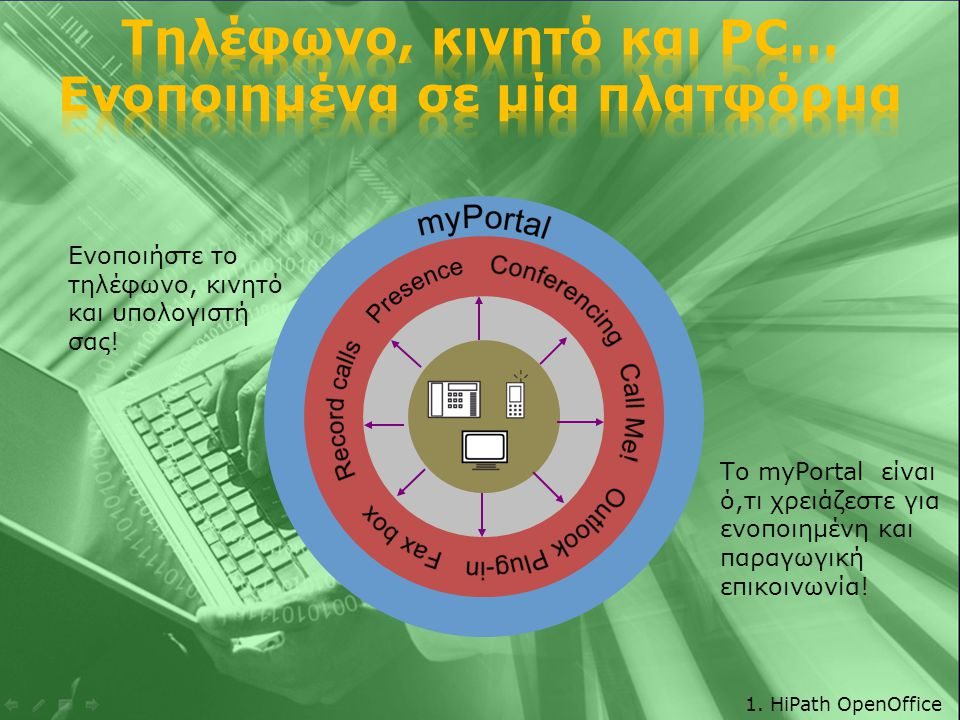 Onsite Mobility  WLAN: Ιδανικό για υπαλλήλους που δεν μπορούν να είναι δεμένοι στα γραφεία τους.