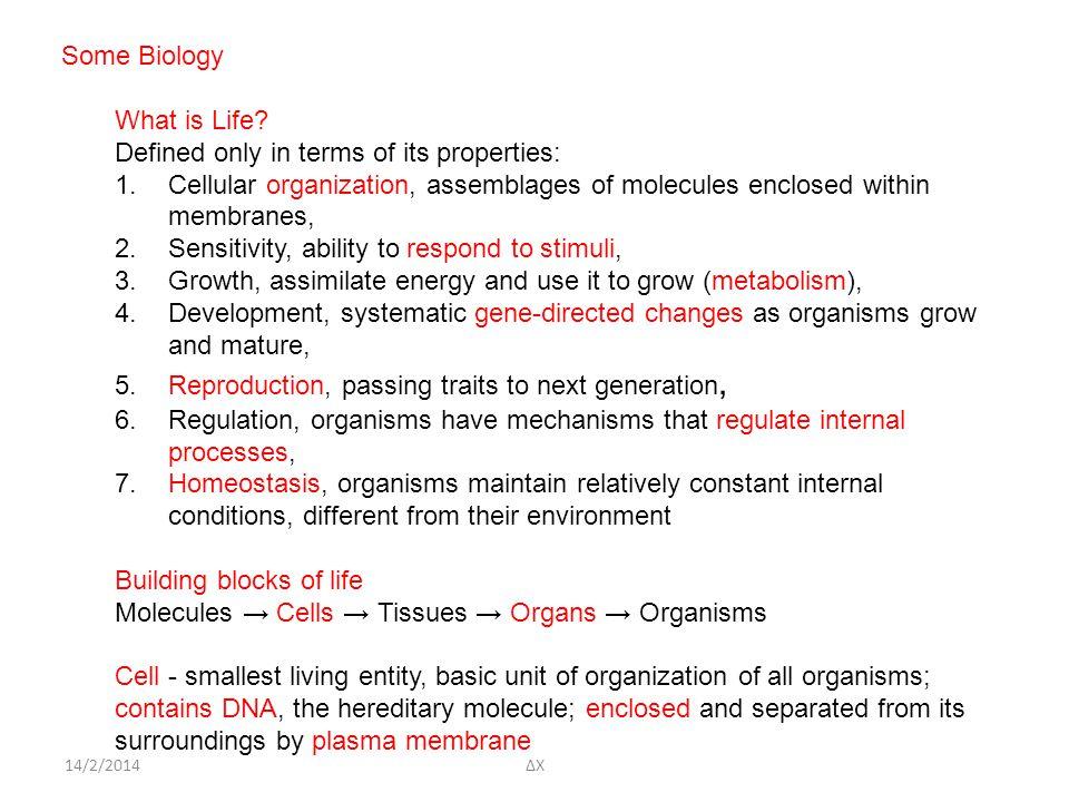 14/2/2014ΔΧ Some Biology What is Life.
