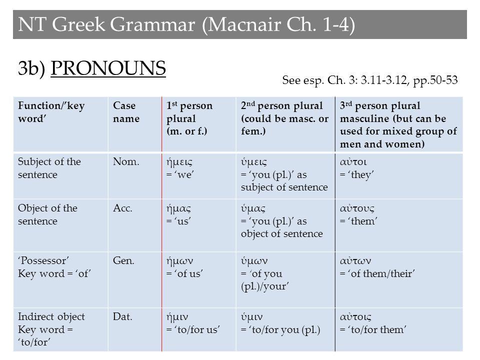 4) PREPOSITIONS NT Greek Grammar (Macnair Ch.