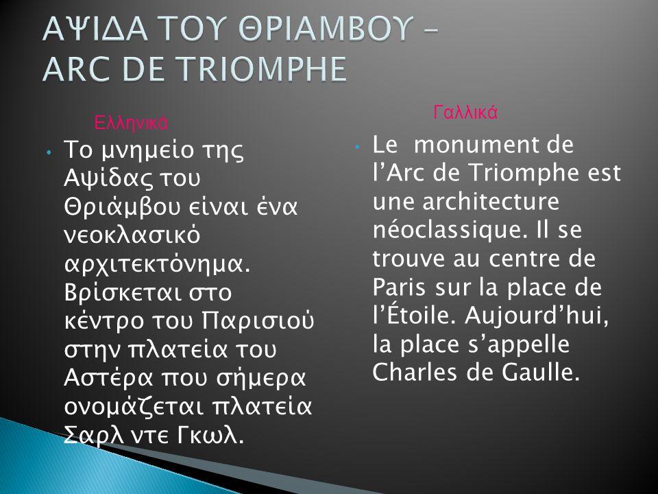 Το μνημείο της Αψίδας του Θριάμβου είναι ένα νεοκλασικό αρχιτεκτόνημα. Βρίσκεται στο κέντρο του Παρισιού στην πλατεία του Αστέρα που σήμερα ονομάζεται