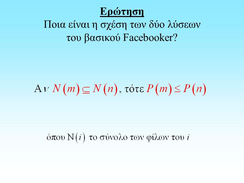 Ερώτηση Ποια είναι η σχέση των δύο λύσεων του βασικού Facebooker