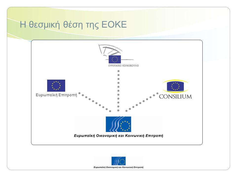 Η ΕΟΚΕ και η προαγωγή του κοινωνικού διαλόγου Τακτικές επαφές και συνεργασία με τα δίκτυα εθνικών Οικονομικών και Κοινωνικών Συμβουλίων και με τις οργανώσεις της κοινωνίας των πολιτών Στο επίπεδο της Ευρωπαϊκής Ένωσης Στα κράτη μέλη και άλλες ευρωπαϊκές χώρες Στις χώρες της Ευρωμεσογειακής Εταιρικής Σχέσης Στα κράτη της Αφρικής, της Καραϊβικής και του Ειρηνικού (ΑΚΕ) Στα κράτη της Mercosur και άλλες χώρες της Λατινικής Αμερικής Στην Ινδία, την Κίνα κλπ.
