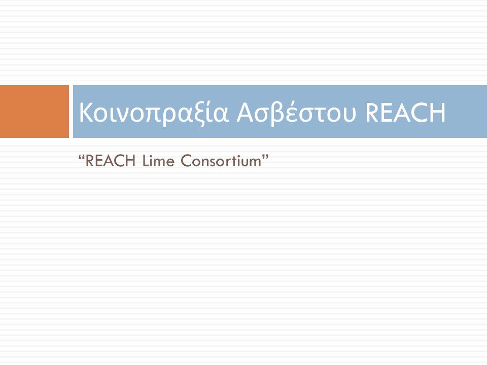 """REACH Lime Consortium"" Κοινοπραξία Ασβέστου REACH"