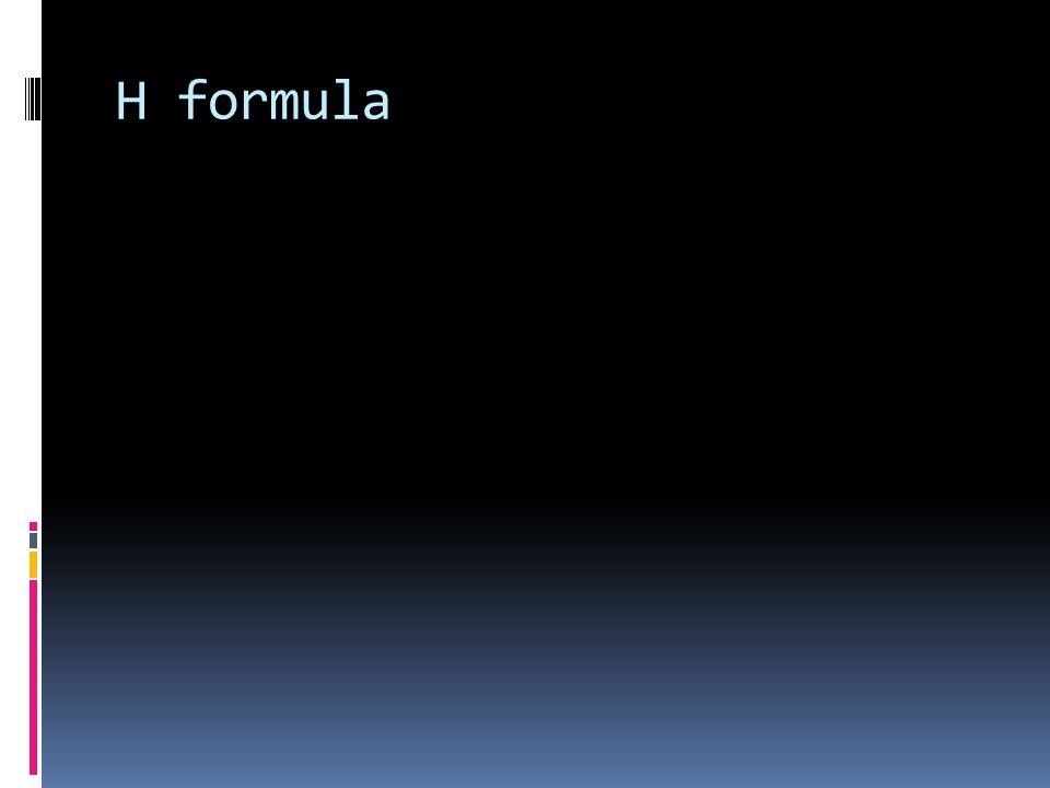 Η formula