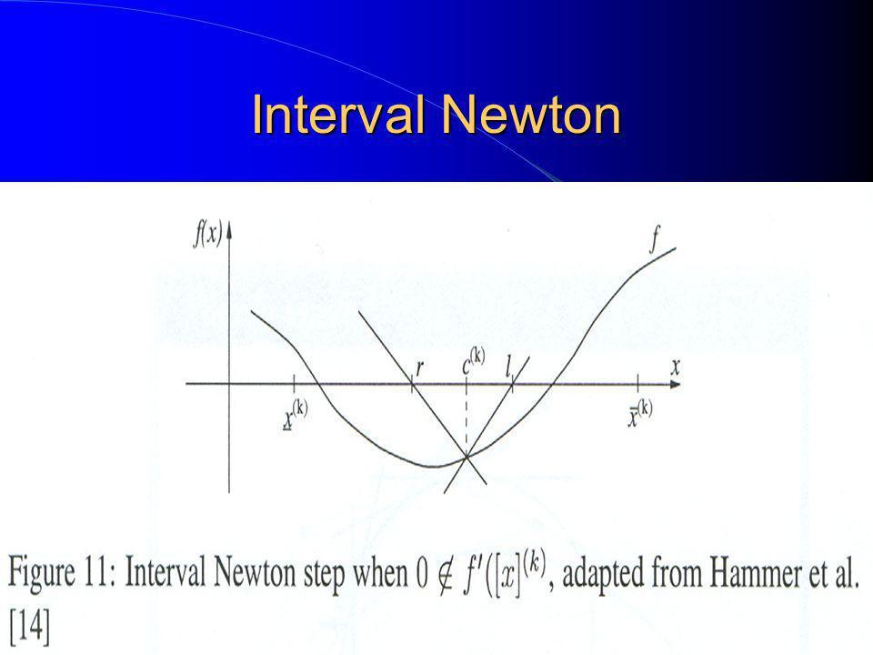 Interval Newton