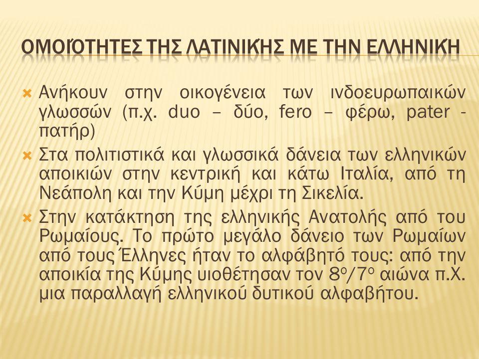  Ελληνικό και Λατινικό αλφάβητο