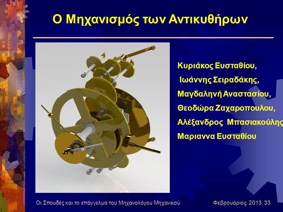 Οι Σπουδές και το επάγγελμα του Μηχανολόγου Μηχανικού Φεβρουάριος 2013, 33 Κυριάκος Ευσταθίου, Ιωάννης Σειραδάκης, Μαγδαληνή Αναστασίου, Θεοδώρα Ζαχαρ