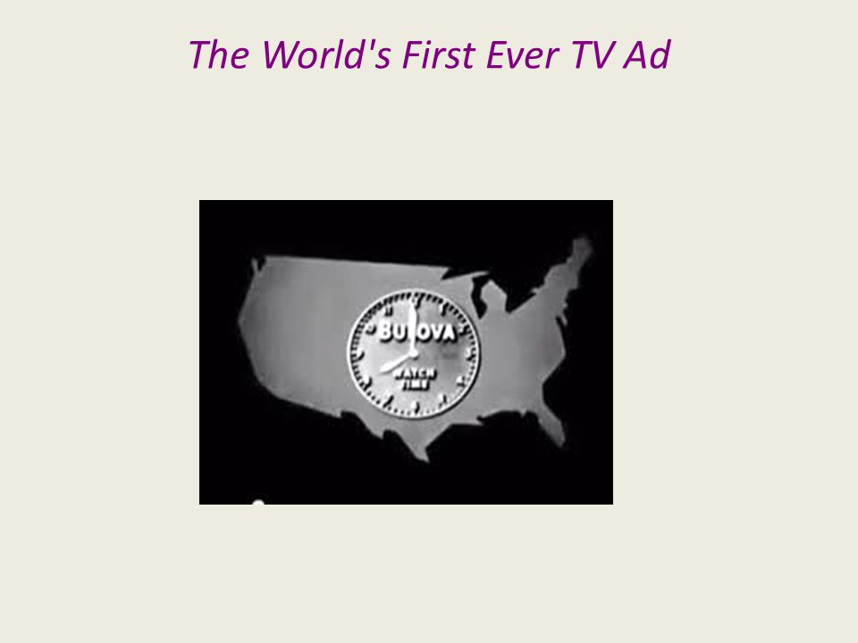 The World's First Ever TV Ad
