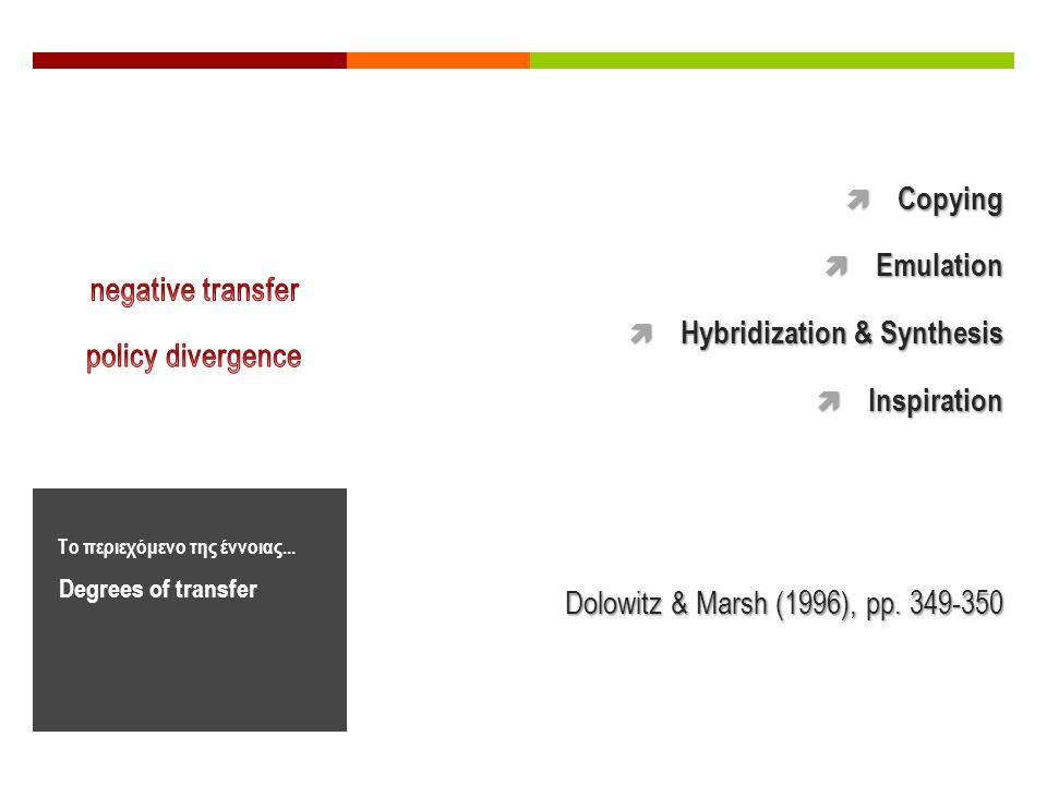 Constraints for transfer Το περιεχόμενο της έννοιας...
