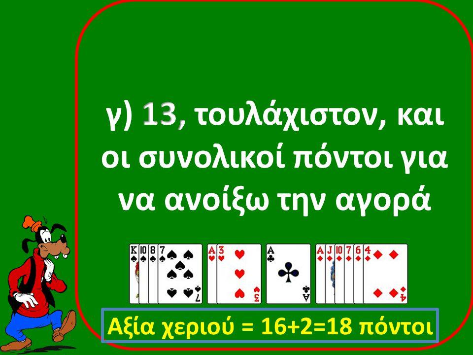 ♠ Α93 ♥ Α5  ΚQ87 ♣ KJ65 Ανοίξας 1ΧΑ Απαντών Αdvancer Παρεμβαλλόμενος Πάσο ♠ Q542 ♥ J42  AJ5 ♣ Α84