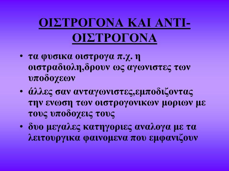 ΟΙΣΤΡΟΓΟΝΑ ΚΑΙ ΑΝΤΙ- ΟΙΣΤΡΟΓΟΝΑ τα φυσικα οιστρογα π.χ.