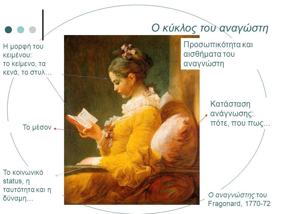 Η μορφή του κειμένου: το κείμενο, τα κενά, το στυλ… Προσωπικότητα και αισθήματα του αναγνώστη Το κοινωνικό status, η ταυτότητα και η δύναμη… Κατάσταση
