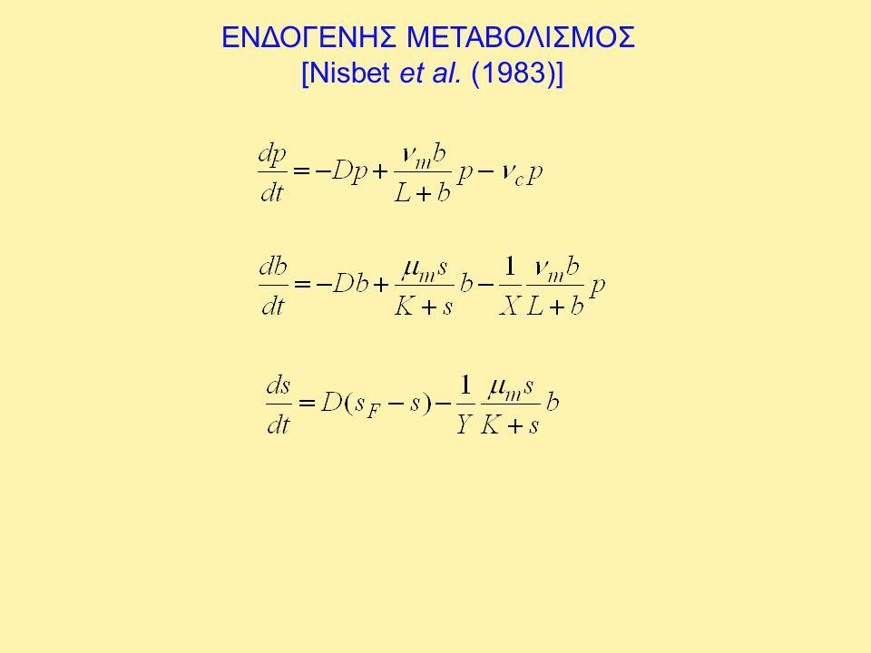 ΕΝΔΟΓΕΝΗΣ ΜΕΤΑΒΟΛΙΣΜΟΣ [Nisbet et al. (1983)]