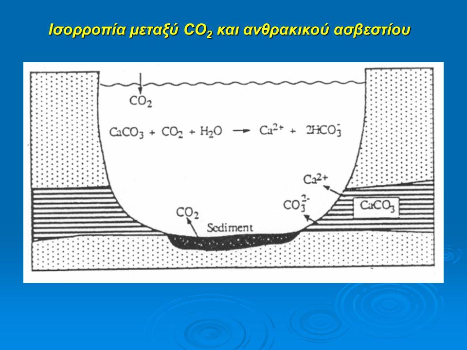Ισορροπία μεταξύ CO 2 και ανθρακικού ασβεστίου