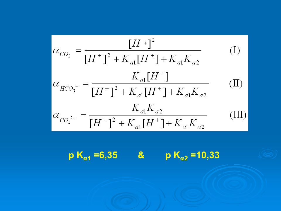 1) pH<<pΚ  1 (όξινα pH) +